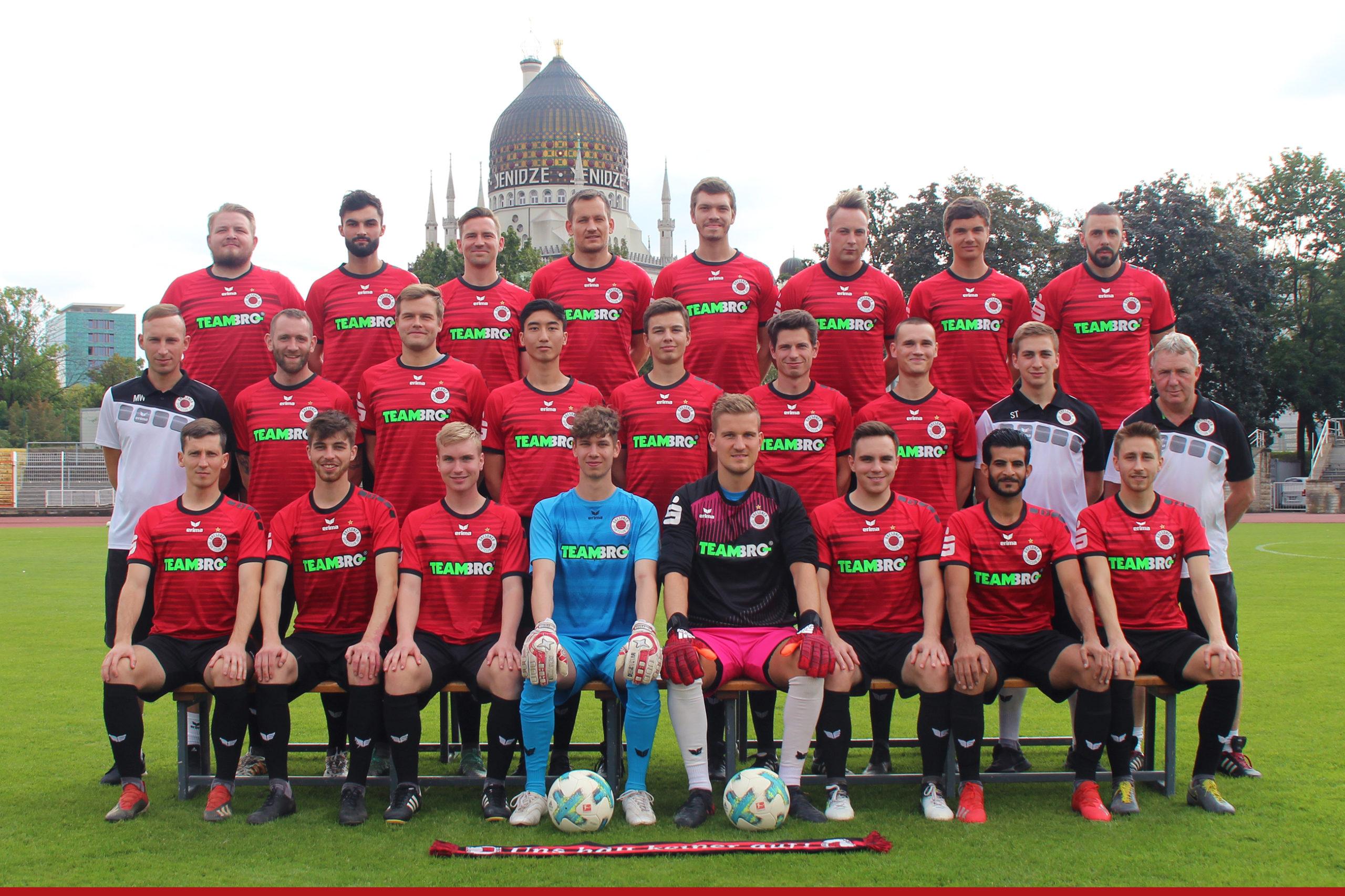 Mannschaftsfoto Dresdner SC 1898 Saison 2020/21